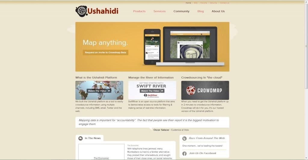 Ushahidi website